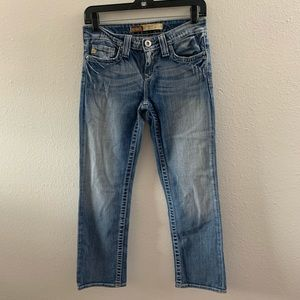 Big Star Rikki low rise jean capris Sz 25